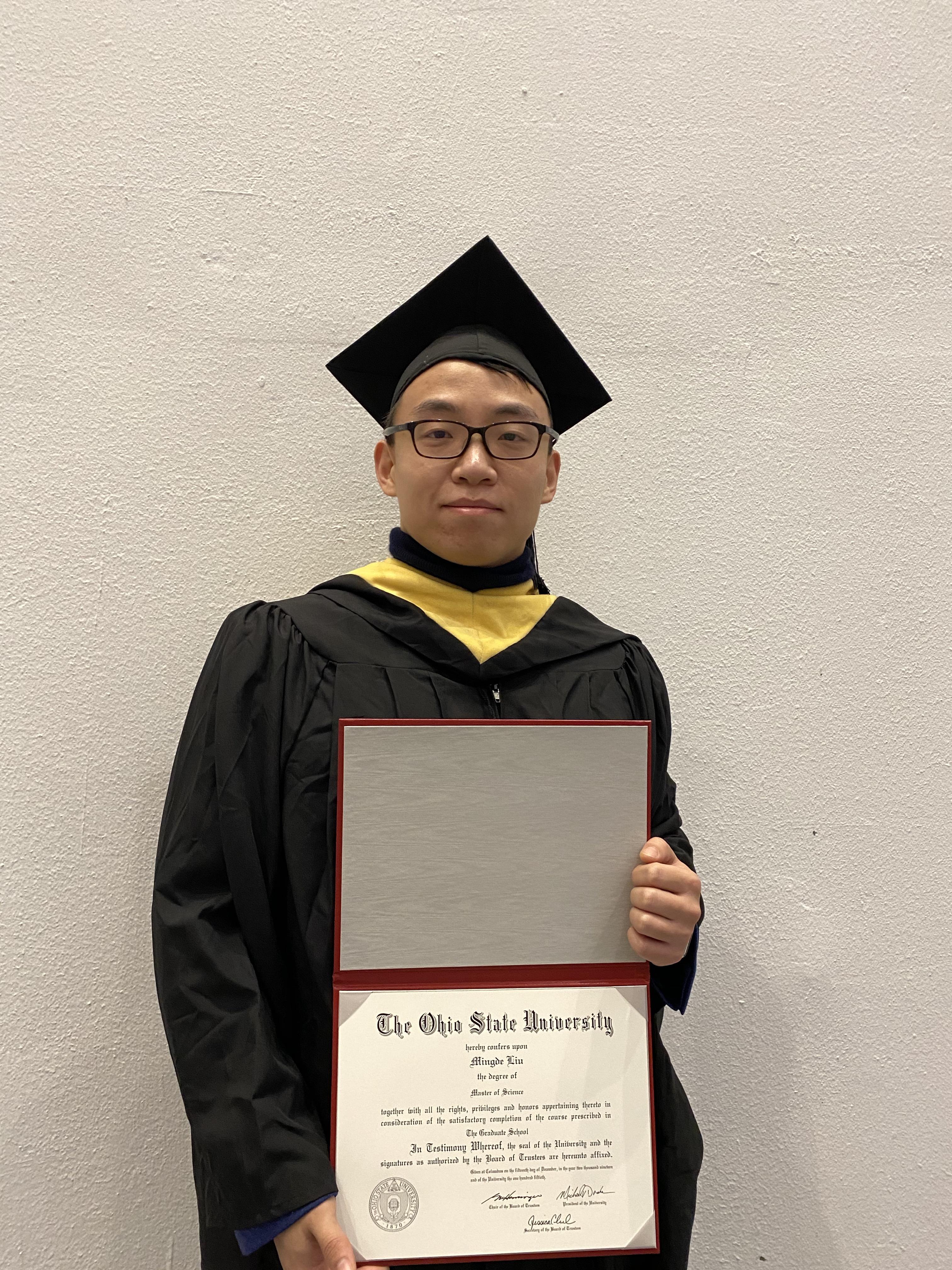 Mingde Liu- Graduation (2019)