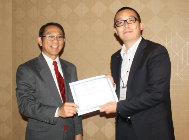 Tony Ren won Best Oral Presentation in the Rubber and Resins Division at AAIC 2017