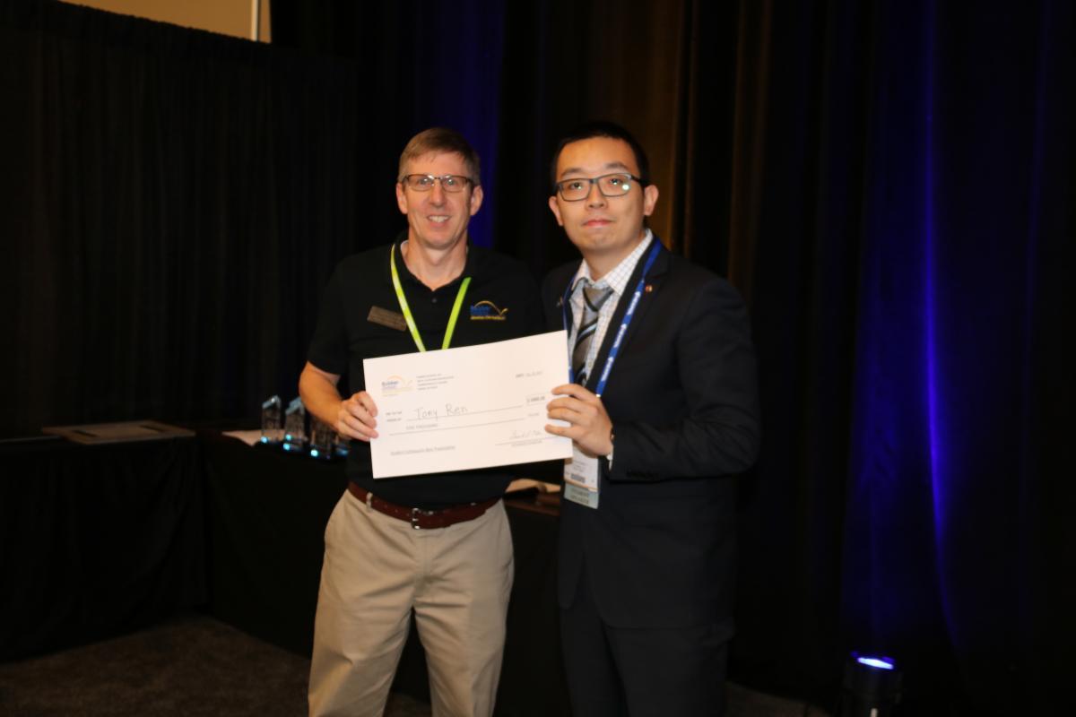 Tony Ren won Best Student Presentation Award at IEC 2019