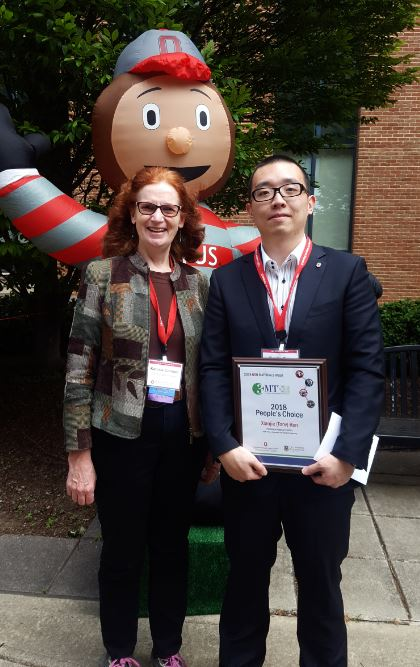 Tony Ren was a finalist for the 3MT Three Minute Thesis Competition and won the People's Choice Award at OSU Materials Week 2018